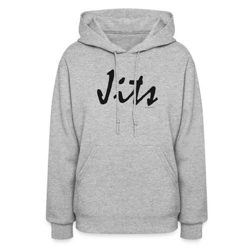 Jiu Jitsu - Jits Womens Hoodie - bw - Front - Women's Hoodie