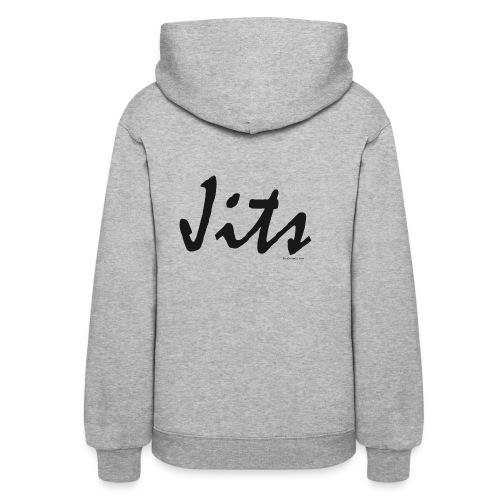 Jiu Jitsu - Jits Womens Hoodie - bw - Back - Women's Hoodie