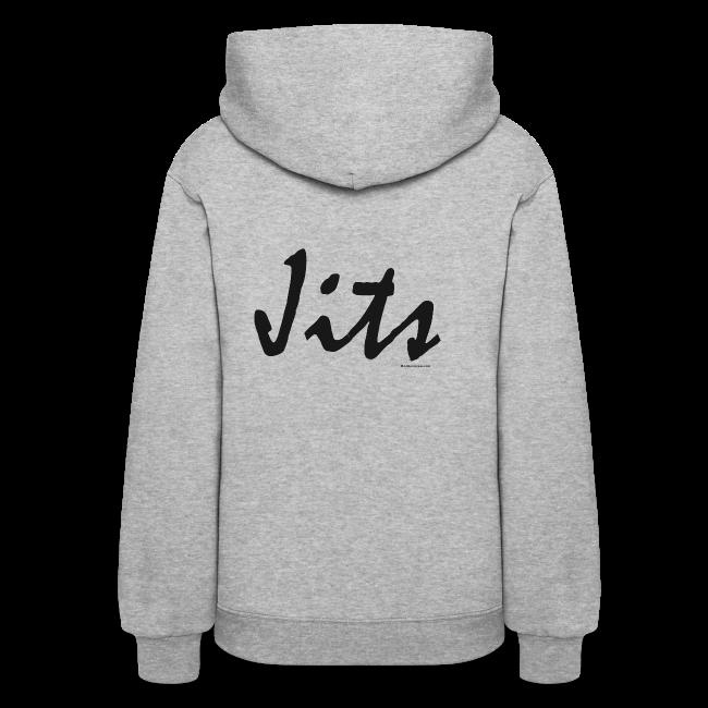 Jiu Jitsu - Jits Womens Hoodie - bw - Back