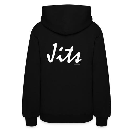 Jiu Jitsu - Jits Womens Hoodie - wb - Back - Women's Hoodie