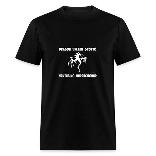 Men's Premium Tshirt White on Black - Men's T-Shirt