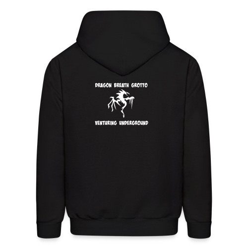 Men's Premium Hoodie White on Black - Men's Hoodie