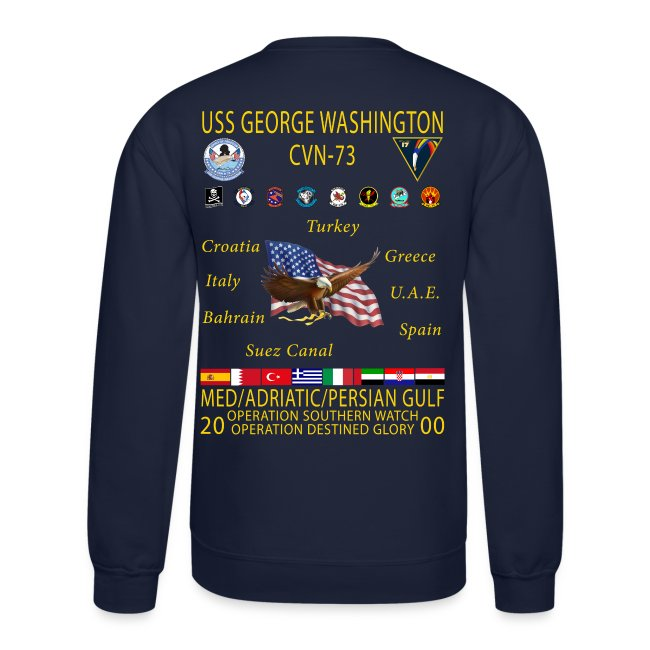 USS GEORGE WASHINGTON 2000 CRUISE SWEATSHIRT