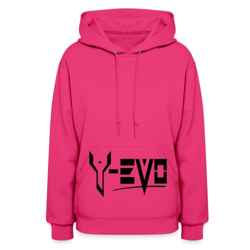 Y-EVO MAIN - Women's Hoodie - Black Gritter DESIGN - Y-EVO(^) Entertainment's Shop - Women's Hoodie