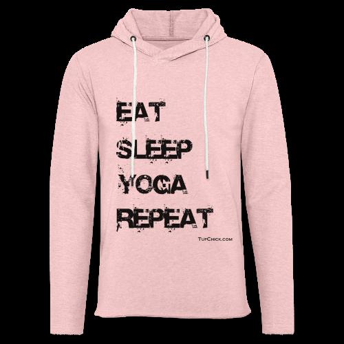 Eat Sleep Yoga Repeat - bw - Terry Hoodie - Unisex Lightweight Terry Hoodie