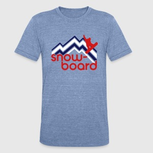 snowboard T-Shirts - Unisex Tri-Blend T-Shirt by American Apparel