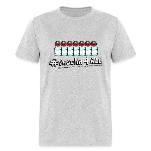 Men's #insulin4all The Diabetic Survivor vials t-shirt - Men's T-Shirt