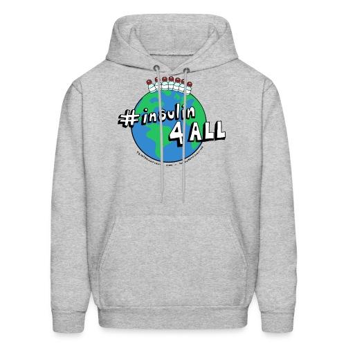 Men's #insulin4all The Diabetic Survivor globe hoodie - Men's Hoodie