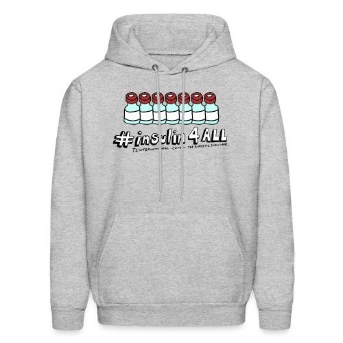 Men's #insulin4all The Diabetic Survivor vials hoodie - Men's Hoodie