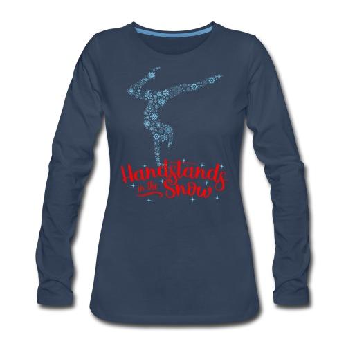 Handstands In The Snow - Women's Premium Long Sleeve T-Shirt
