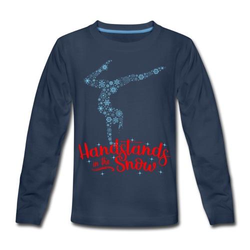 Handstands In The Snow - Kids - Kids' Premium Long Sleeve T-Shirt