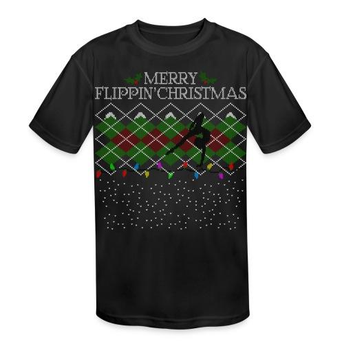 Merry Flippin' Christmas - Girls' Performance Tee - Kids' Moisture Wicking Performance T-Shirt