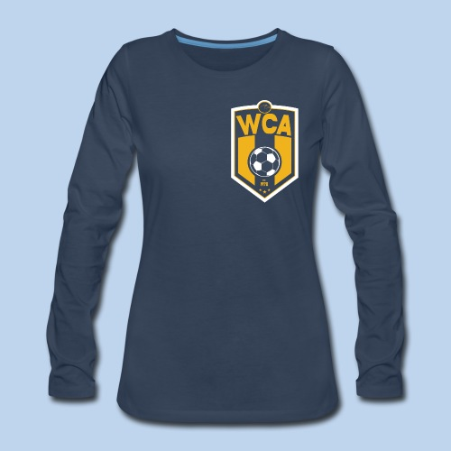 WCA Soccer- Women's Offset LS tee - Women's Premium Long Sleeve T-Shirt