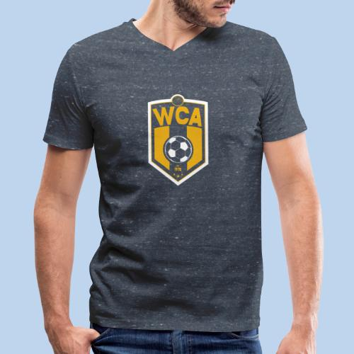 WCA Soccer- Men's Heathered Vneck tee - Men's V-Neck T-Shirt by Canvas