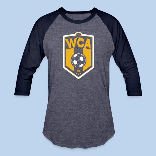 WCA Soccer- Men's Heathered Baseball LS tee - Baseball T-Shirt