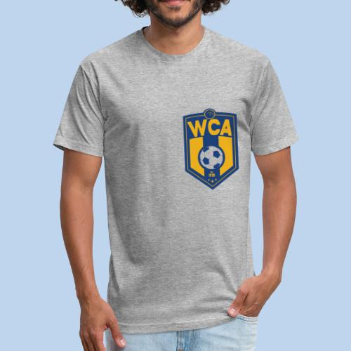 WCA Soccer- Men's Offset fitted tee - Fitted Cotton/Poly T-Shirt by Next Level