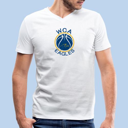 WCA Basketball- Men's White Vee - Men's V-Neck T-Shirt by Canvas
