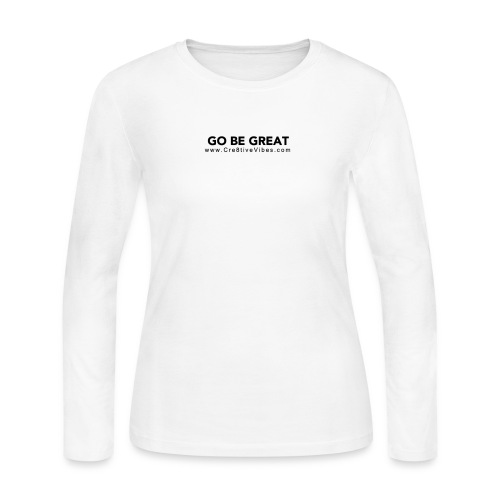Go Be Great - Women's Long Sleeve Jersey T-Shirt - Women's Long Sleeve Jersey T-Shirt
