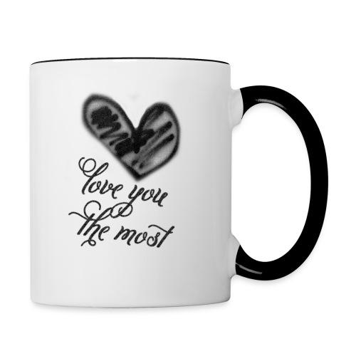Contrast Mug - Torn - Love You the Most - Contrast Coffee Mug