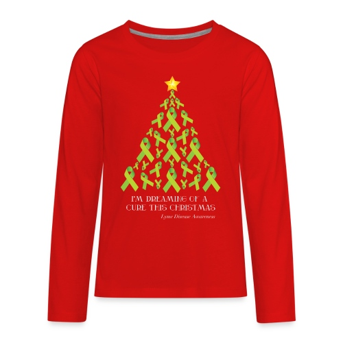 Kids Lyme FreeChristmas Long Sleeve Tee - Kids' Premium Long Sleeve T-Shirt