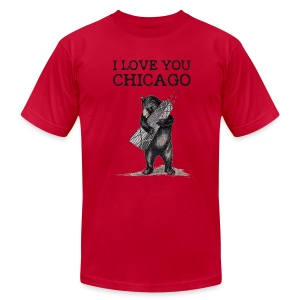 I Love You Chicago - Men's Fine Jersey T-Shirt