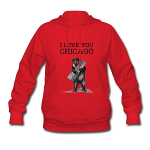 I Love You Chicago - Women's Hoodie