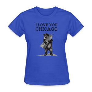 I Love You Chicago - Women's T-Shirt