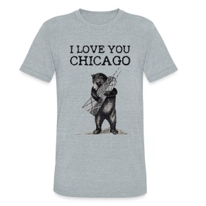 I Love You Chicago - Unisex Tri-Blend T-Shirt