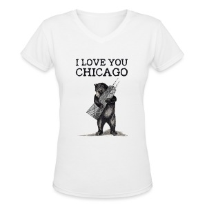 I Love You Chicago - Women's V-Neck T-Shirt