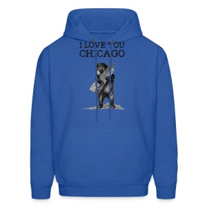 I Love You Chicago - Men's Hoodie