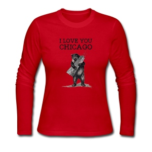 I Love You Chicago - Women's Long Sleeve Jersey T-Shirt