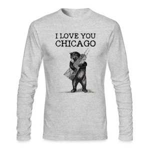 I Love You Chicago - Men's Long Sleeve T-Shirt by Next Level