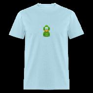 T-Shirts ~ Men's T-Shirt ~ Basic Adiumy Green-on-Blue