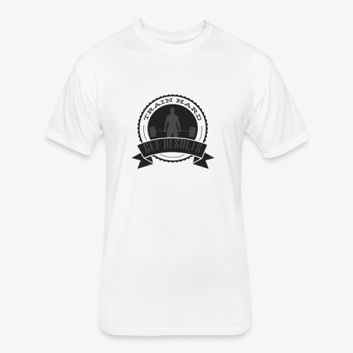 THGR Classic Tee - White & Gray - Fitted Cotton/Poly T-Shirt by Next Level