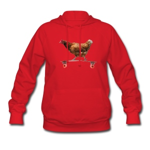 Chicken on Longboard Hoodies - Women's Hoodie