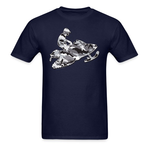 Snowmobile in Camouflage Grey - Men's T-Shirt
