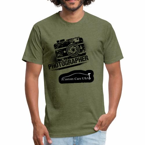 CCU Heather Millitary Green Photographer - Fitted Cotton/Poly T-Shirt by Next Level