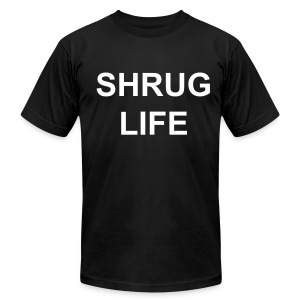 Shrug Life mens black  - Men's T-Shirt by American Apparel