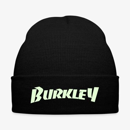 (Glow In the Dark Print) Burkley Logo - Knit Cap with Cuff Print