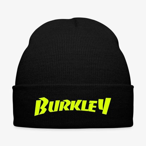 (Neon Print) Burkley Logo - Knit Cap with Cuff Print