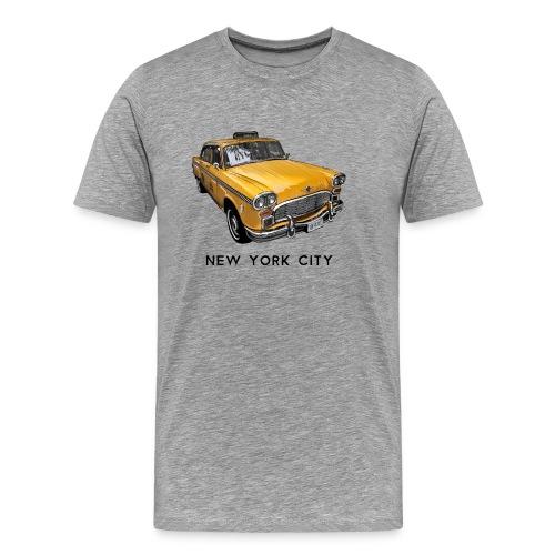 New York City Classic Checker Taxi Cab Big Apple N - Men's Premium T-Shirt