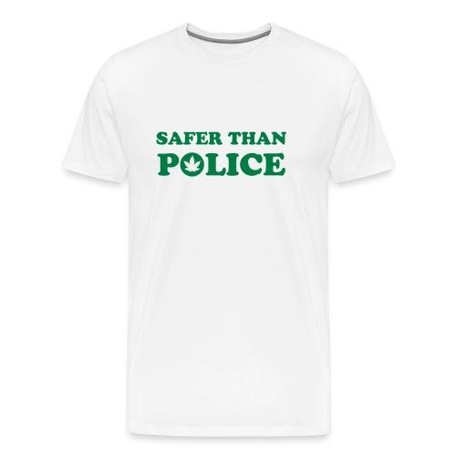 Pot Safer than Police - Men's Premium T-Shirt