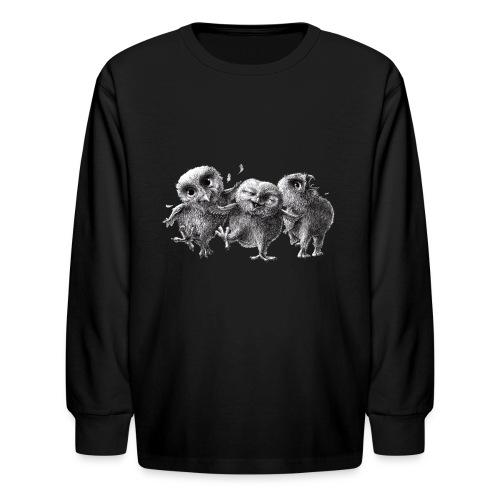 Three Happy Owls - Kids' Long Sleeve T-Shirt