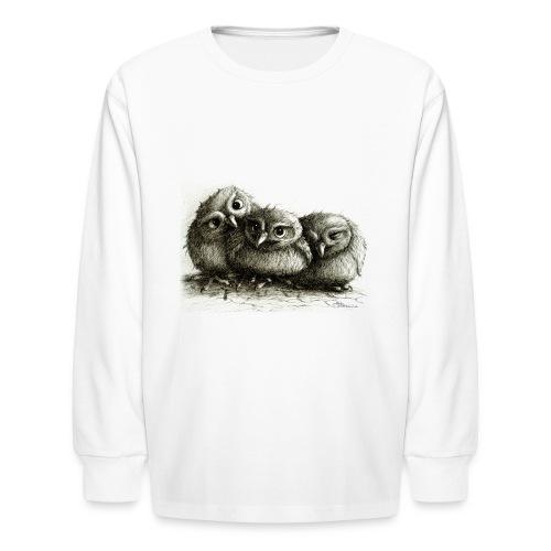 three young owls - Kids' Long Sleeve T-Shirt