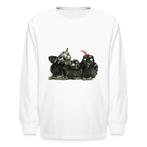 Three Crows - Raven - Kids' Long Sleeve T-Shirt