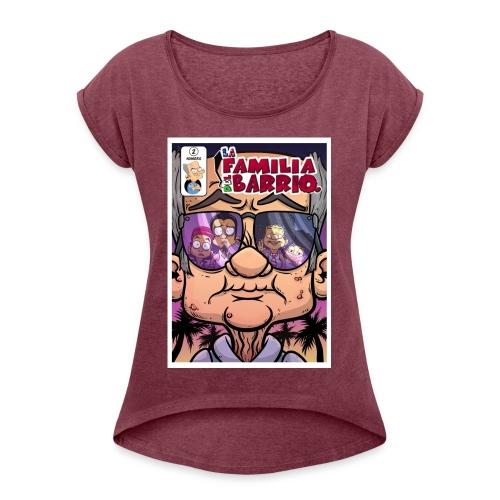 comic002 - Women's Roll Cuff T-Shirt