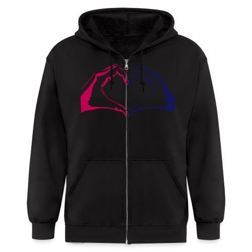 HAND HEART men's hoodie - Men's Zip Hoodie
