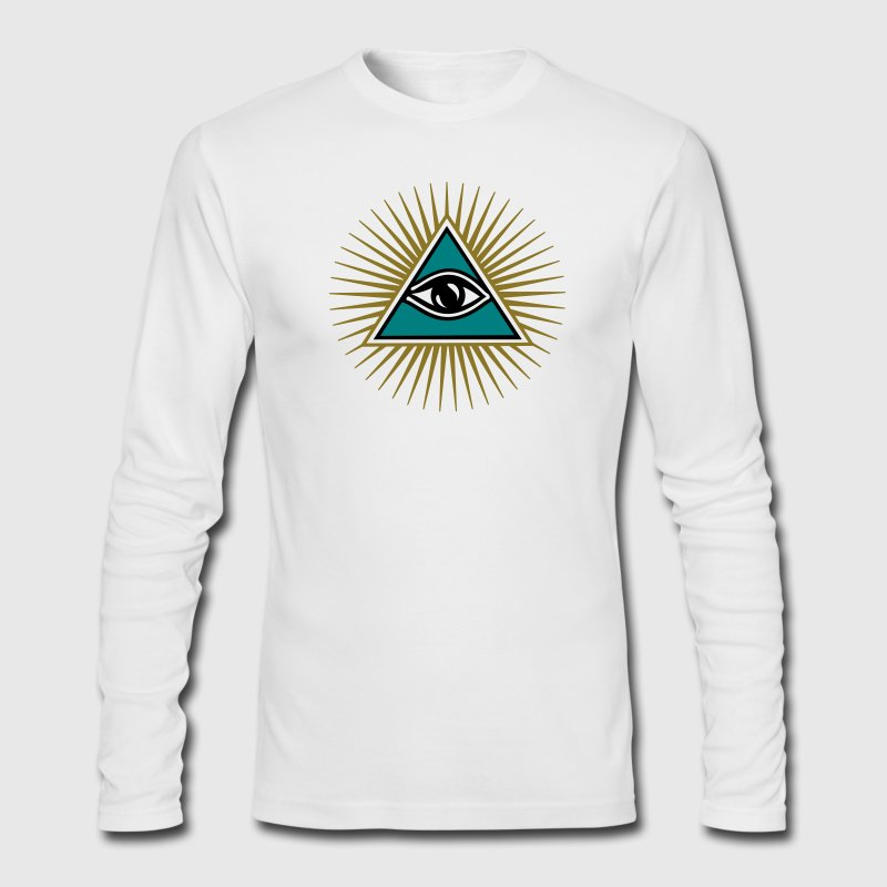 all seeing eye 1-3 colors - symbol omniscience Long Sleeve Shirts - Men's Long Sleeve T-Shirt by Next Level