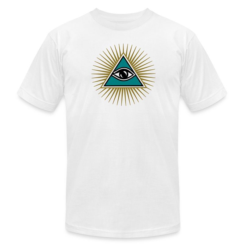 All seeing eye 1 3 colors symbol omniscience t shirts men s t