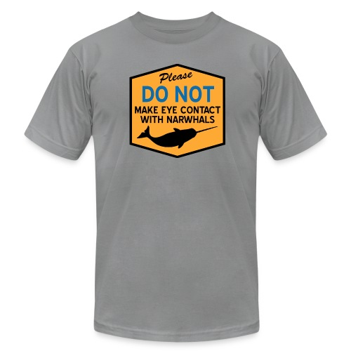 Eye Contact Narwhals - Men's Fine Jersey T-Shirt